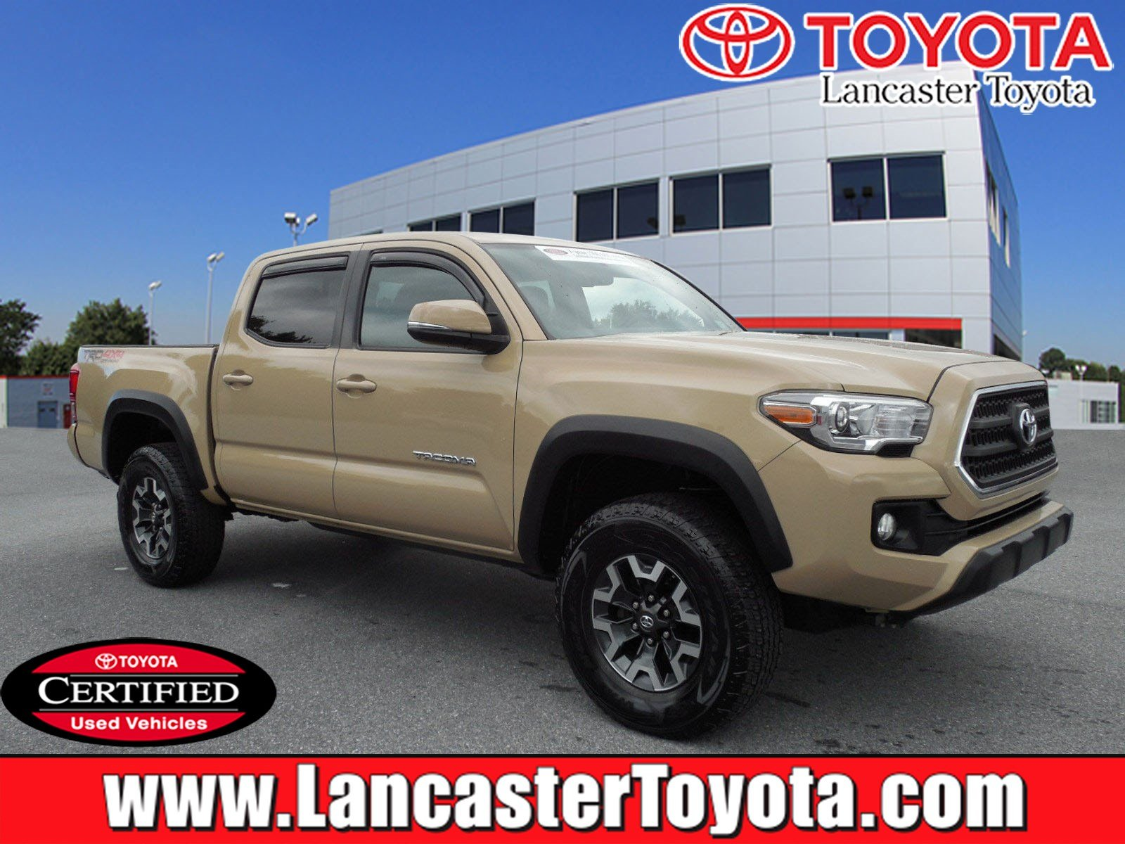 Certified Pre Owned 2016 Toyota Ta a TRD f Road Crew Cab Pickup
